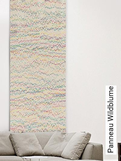 Panneau-Wildblume-Blumen-Moderne-Muster-Creme-Multicolor