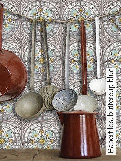 Papertiles,-buttercup-blue-Kachel-Moderne-Muster-Orientalisch-Grau-Gelb-Weiß-mint