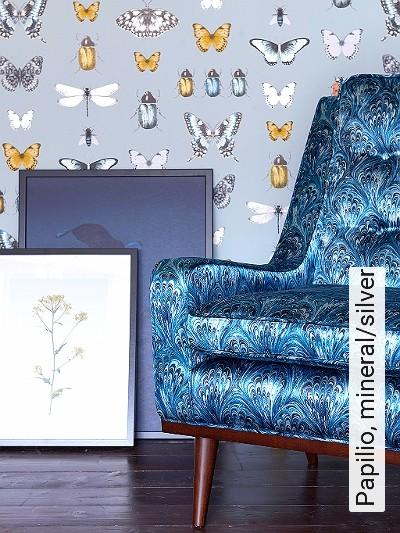 Papilio,-mineral/silver-Tiere-Schmetterlinge-Fauna-Multicolor