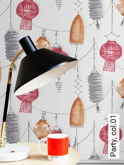 Party,-col.01-Lampe-Moderne-Muster-Rot-Grau-Braun-Weiß-Perlmutt