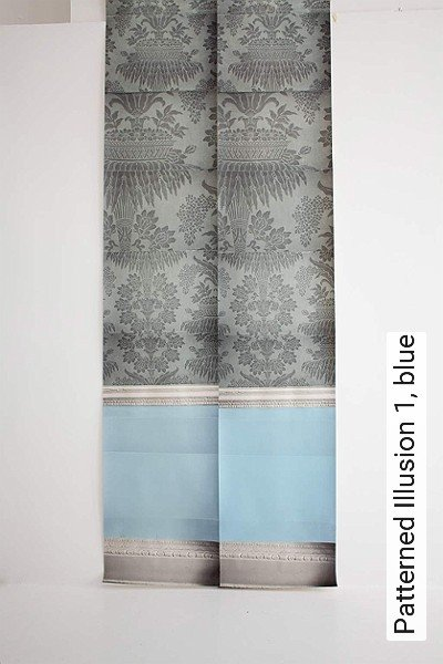 Patterned-Illusion-1,-blue-Ornamente-Vertäfelung-Moderne-Muster-Grau-Anthrazit-Weiß-Hellblau