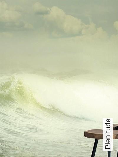 Plenitude-Wellen-Strand-Wolken-FotoTapeten-Grün-Türkis