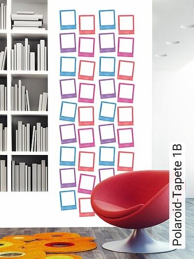 Polaroid-Tapete-1B-Kunst-Bilderrahmen-Moderne-Muster-Multicolor