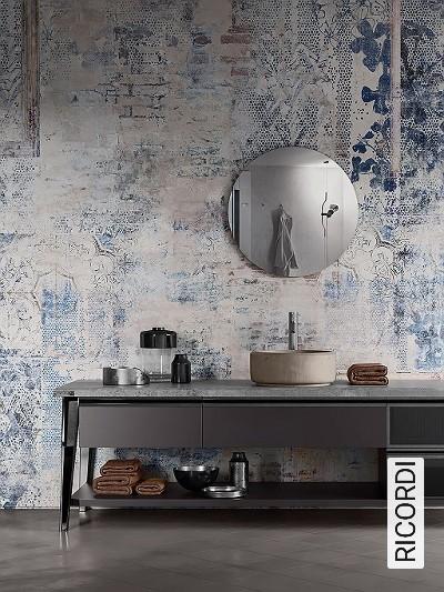 RICORDI-Collage-Moderne-Muster-FotoTapeten-Grau-Creme-Hellblau-Hellbraun