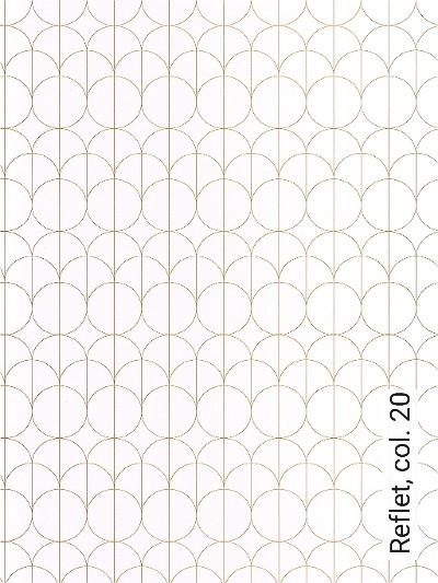 Reflet,-col.-20-Kreise-Grafische-Muster-Art-Deco-Gold-Weiß