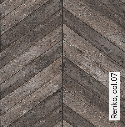 Renko,-col.07-Holz-Patina-Zickzack-Moderne-Muster-Braun-Schwarz-Perlmutt