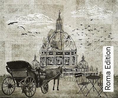 Roma-Edition-Gebäude-Moderne-Muster-FotoTapeten-Grau-Schwarz