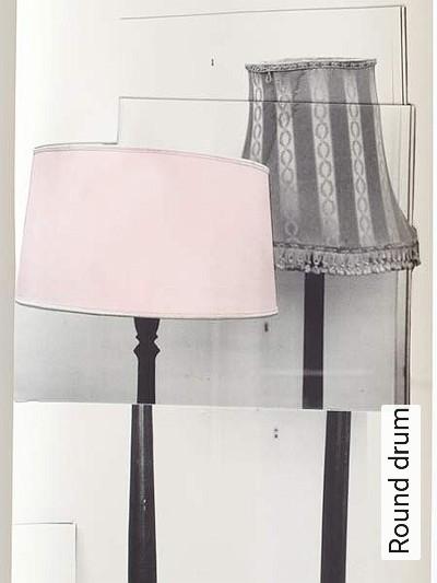 Round-drum-Lampe-Moderne-Muster-Grau-Rosa-Anthrazit-Creme