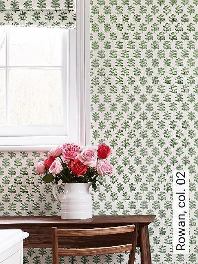 Rowan,-col.-02-Bäume-Florale-Muster-Grün-Weiß