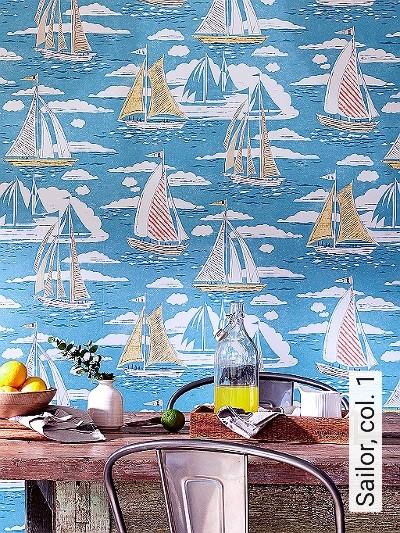 Sailor,-col.-1-Schiffe-Moderne-Muster-Blau-Weiß