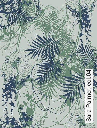 Sara-Palmer,-col.04-Blätter-Zeichnungen-Moderne-Muster-Grün-Blau-Hellgrün