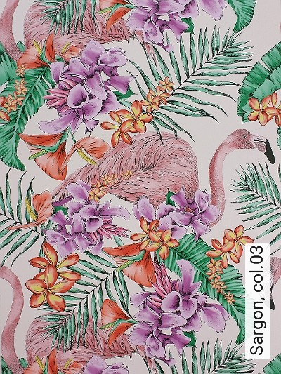 Sargon,-col.03-Blumen-Tiere-Blätter-Flamingos-Florale-Muster-Rosa-Multicolor