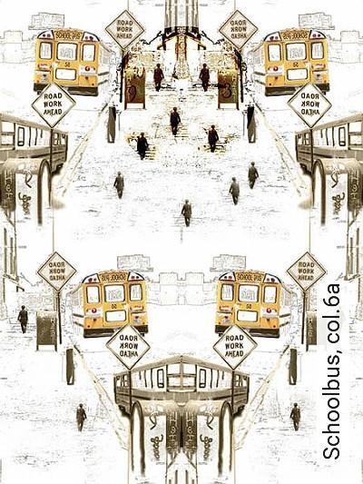 Schoolbus,-col.6a-Fahrzeuge-Moderne-Muster-Grau-Braun-Gelb-Weiß