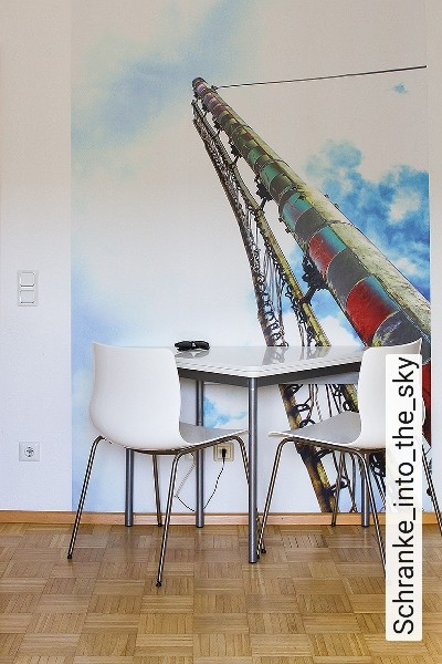 Schranke_into_the_sky-Gegenstände-Wolken-Moderne-Muster-FotoTapeten-Blau-Weiß-Multicolor
