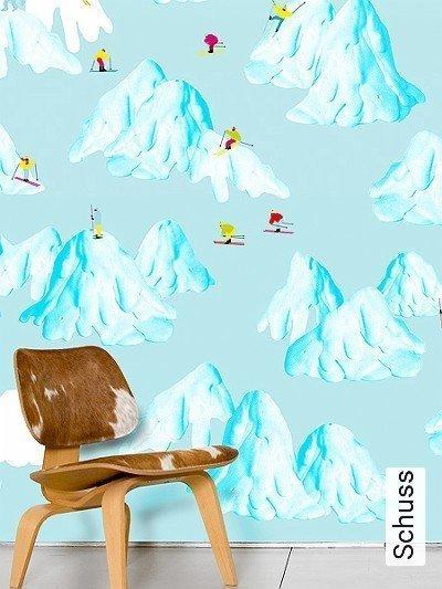 Schuss-Berge-FotoTapeten-Weiß-Multicolor