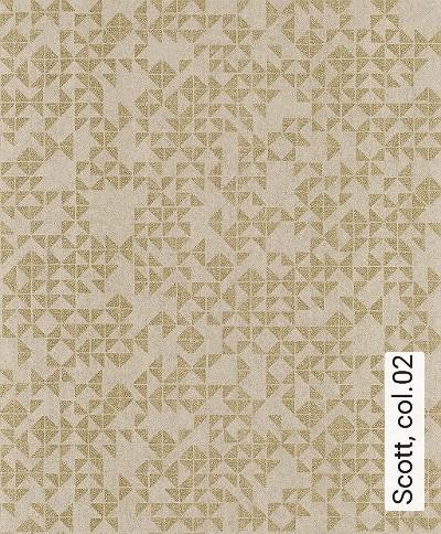 Scott,-col.02-Dreiecke-Moderne-Muster-Gold-Hellbraun