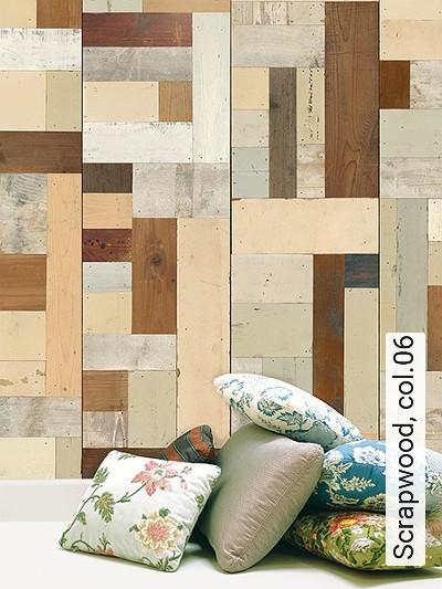 Scrapwood,-col.06-Holz-Moderne-Muster-Grau-Braun-Creme-Hellbraun