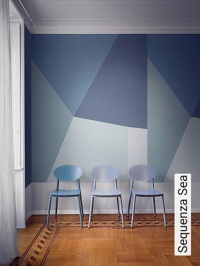 Sequenza-Sea-Graphisch-FotoTapeten-Grafische-Muster-Grün-Blau-Creme