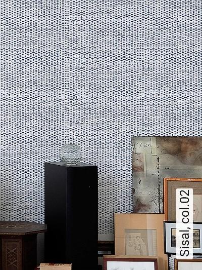 Sisal,-col.02-Gewebe-Moderne-Muster-Blau-Weiß