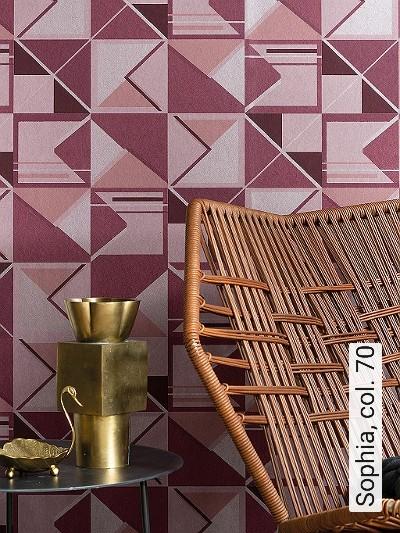 Sophia,-col.-70-Dreiecke-Grafische-Muster-Art-Deco-Rosa-weinrot