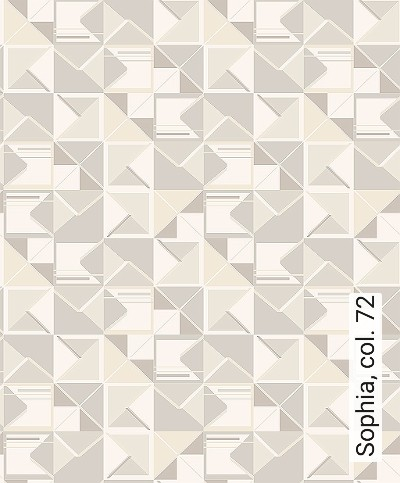 Sophia,-col.-72-Dreiecke-Grafische-Muster-Art-Deco-Silber-Creme-Hellbraun