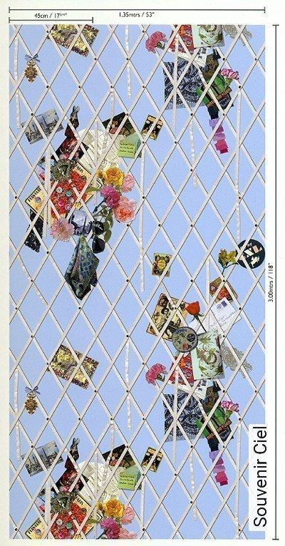 Souvenir-Ciel-Blumen-Rauten-Gegenstände-Moderne-Muster