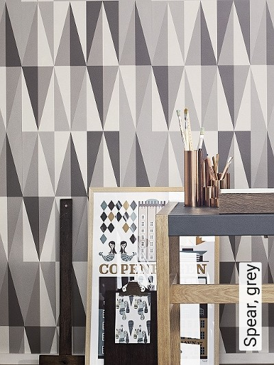 Spear,-grey-Graphisch-Dreiecke-Grafische-Muster-Grau-Anthrazit-Creme