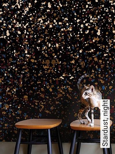 Stardust,-night-Punkte-Moderne-Muster-FotoTapeten-Multicolor