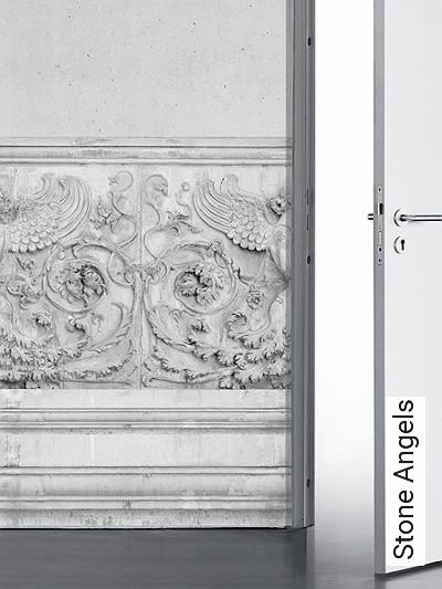 Stone-Angels-Stein-Figuren-3D-Tapeten-tromp-l