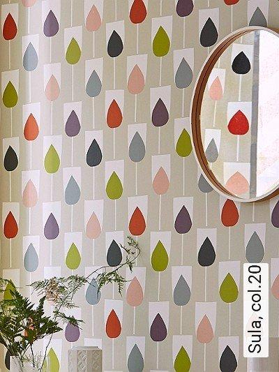 Sula,-col.20-Blätter-Florale-Muster-Grafische-Muster-Weiß-Multicolor-Hellbraun