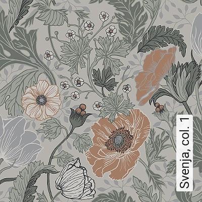 Svenja,-col.-1-Blumen-Blätter-Klassische-Muster-Jugendstil-Grün-Grau-Hellgrün-Creme-Hellbraun