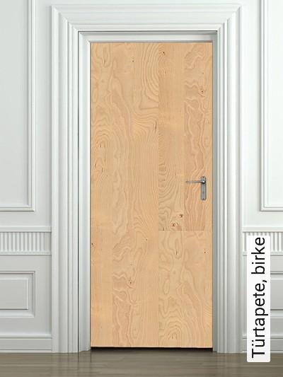 Türtapete,-birke-Holz-Türen-Moderne-Muster-FotoTapeten