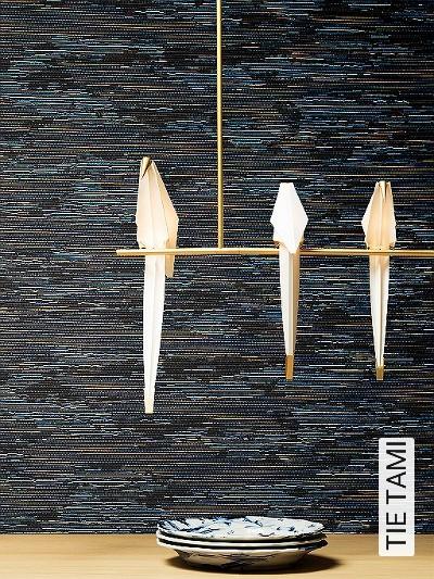 TIE-TAMI-Graphisch-Moderne-Muster-Blau-Braun-Gelb-Schwarz