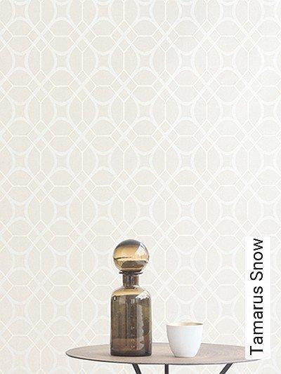 Tamarus-Snow-Rauten-Klassische-Muster-Silber-Creme