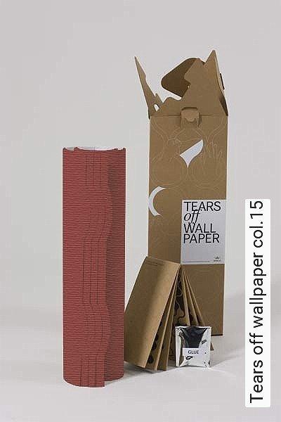 Tears-off-wallpaper-col.15-Bögen-Formen-Orange