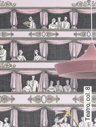 Teatro,-col.-8-Figuren-Zeichnungen-Moderne-Muster-Gold-Rosa-Schwarz