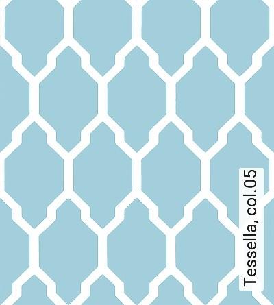 Tessella,-col.05-Rauten-Grafische-Muster-Weiß-mint