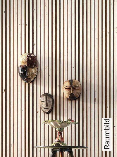 Timber-stripes-wallpaper,-col.-03-Holz-Moderne-Muster-Braun-Weiß