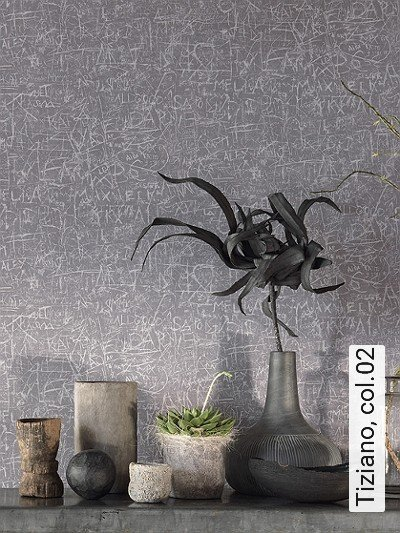 Tiziano,-col.02-Stein-Buchstaben-Patina-Moderne-Muster-Grau