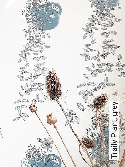 Traily-Plant,-grey-Blätter-Gegenstände-Florale-Muster-Grau-Anthrazit-petrol