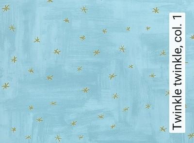 Twinkle-twinkle,-col.-1-Sterne-KinderTapeten-Gold-Türkis