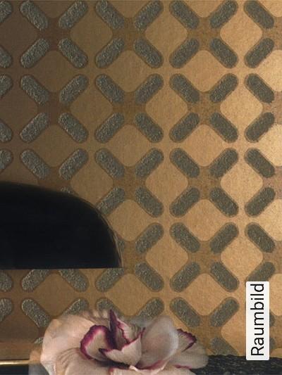 Ulf-Moritz,-Wall-Couture,-col.01-Wellen-Moderne-Muster-Gold-Hellbraun