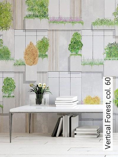 Vertical-Forest,-col.-60-Gebäude-FotoTapeten-Grafische-Muster-Grün-Gold-Grau-Creme-Ocker