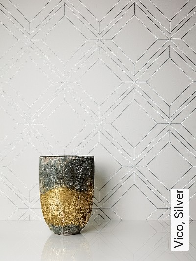 Vico,-Silver-Kachel-Quadrate/Rechtecke-Moderne-Muster-Silber-Weiß