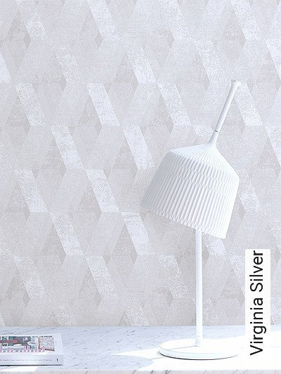 Virginia-Silver-Rauten-Grafische-Muster-Silber-Creme