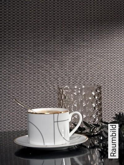 Weavy,-col.-07-***-NEU-***-Mosaik-Moderne-Muster-Grafische-Muster-Braun-Anthrazit