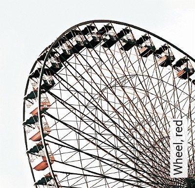Wheel,-red-Gegenstände-FotoTapeten-Rot-Anthrazit-Weiß