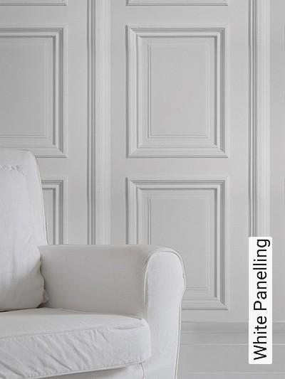 White-Panelling-Vertäfelung-FotoTapeten-Weiß