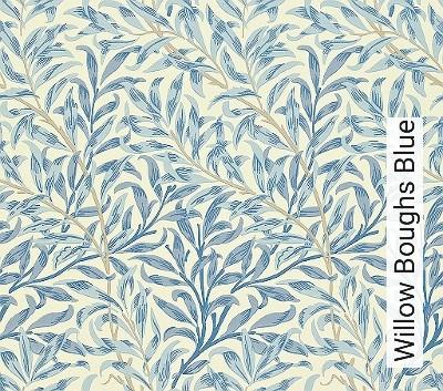 Willow-Boughs-Blue-Blätter-Klassische-Muster-Florale-Muster-Creme-Hellblau-Hellbraun