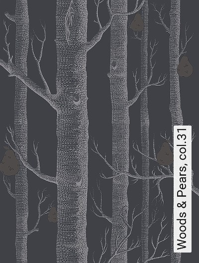 Woods-&-Pears,-col.31-Obst-Bäume-Moderne-Muster-Anthrazit-Creme